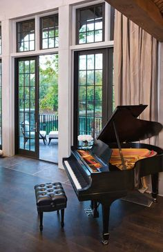 Home Design, Fascinating Lake House Interior Furniture Old Piano On Living Room ~ Luxury Lake House with Ancient House Design Luxury Homes Interior, Luxury Home Decor, Room Interior, Home Interior Design, Interior Designing, The Piano, Paris Home, Home Living Room, Living Room Designs