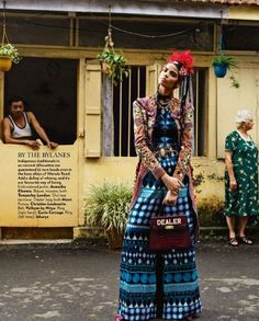 Bhumika Arora takes on the streets of Bandra for Bharat Sikka's lense in Vogue India October 2015 [fashion] Couture Mode, Style Couture, Couture Fashion, Vogue Editorial, Editorial Fashion, Latest Fashion Trends, Trendy Fashion, Boho Fashion, Travel Fashion