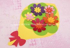 ДЕТСКИЕ ПОДЕЛКИ Mothers Day Crafts For Kids, Paper Crafts For Kids, Mothers Day Cards, Preschool Crafts, Diy For Kids, Arts And Crafts, Diy Crafts, Paper Flowers Craft, Flower Crafts