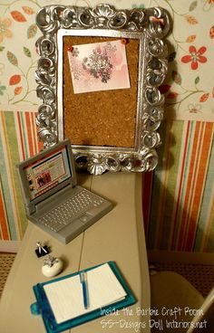 Bulletin Board How to by SS-Designs Doll Interiors, via Flickr 1:6th Scale