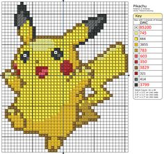 Pikachu Cross-Stitch Pattern by ~saber4734 on deviantART