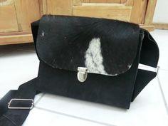 """Purse#Tote#Bag# Schultertaschen - KUHIE, Kuhfelltasche """"Mona"""" aus schwarz-weißem... - ein Designerstück von gmischtesach bei DaWanda"""