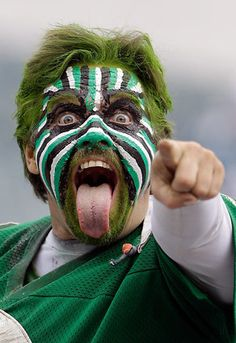 The Seattle Times: October's biggest sports fans and their face paint Soccer World, Soccer Fans, Nfl Fans, Football Fans, Football Face Paint, Camouflage Face Paint, Game Face, War Paint, School Spirit