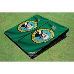 All American Tailgate Washington State Flag Cornhole Board