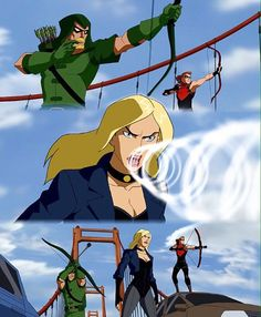 Red Arrow, Black Canary, and Green Arrow