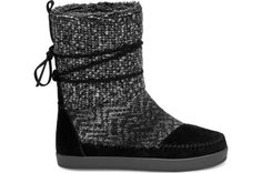 TOMS Suede Textile Women's Nepal Boot Black