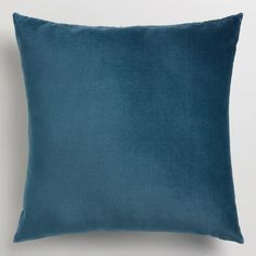 Crafted of luxurious cotton velvet, our midnight blue throw pillow is a classic accent for any room. Combine this exclusive accent with our other velvet pillows in an array of chic colors to refresh your decor instantly.