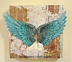 Angel Wings Art, Angel Wings Drawing, Angel Wings Painting, Diy Angels, Heart With Wings, Unique Wall Art, Boho Diy, Shell Crafts, Resin Art