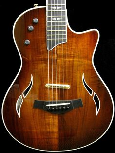 The New Design, Made Available In A Tone-Centered Koa Wood Taylor's First… Best Acoustic Guitar, Guitar Rig, Jazz Guitar, Cool Guitar, Acoustic Guitars, Buy Guitar, Taylor Guitars, Guitar Lessons For Beginners, Cool Electric Guitars
