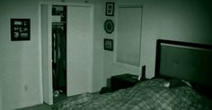 """The activity is beginning to escalate. Something Scary, Night Vision, Cool Stuff, Creepy Stuff, Greaser Hairstyle, Sleep, Bedroom, Paranormal, Furniture"