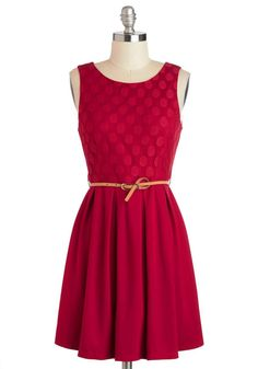 ModCloth Refine Mint Dress in Peppermint Red