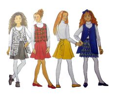 Girls Skirt and Vest Sewing Pattern Size 12-14 Uncut Fast & Easy Busybodies Butterick 3653