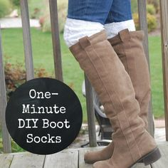 Learn how to make your own boot socks in about one minute. Easiest tutorial ever!