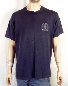 0dc17cba849 vtg 80s distressed Paper Thin Brentwood MO Fire Department T-Shirt sz XL