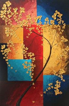 Contemporary Painting on Canvas, Original Acrylic Painting, Home Decor, Wall Art, Midas Touch by Martin Bourbeau by Parul Gupta Flower Painting Canvas, Canvas Art, Knife Painting, Acrylic Canvas, Large Painting, Painting Abstract, Contemporary Paintings, Contemporary Bar, Contemporary Building