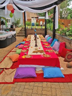 Fabulous Moroccan themed backyard bridal shower