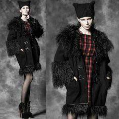 Designer Hooded Gothic Burlesque Fashion Long Coats Overcoats Women SKU-11401486