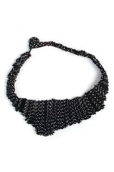 Collar Acordeón Blanco y Negro - según Marina Callis - Bijouterie - Almacen de Belleza