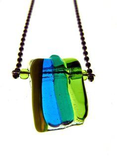 Fused Glass Pendant. $28.00, via Etsy.