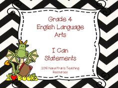 This set of I Can Statements meets the requirements of the Saskatchewan Curriculum Standards for Grade 4 English Language Arts. The posters are set up as two per page, but full page posters can also be available in this background.Grade 4 ELA  I Can Statement full page posters in a rainbow design are available here:Grade 4  ELA I Can Statement Posters - Full PageThis resource is part of a bundle in which you will find all the I Can Statements for Grade 5 in a black and white chevron…