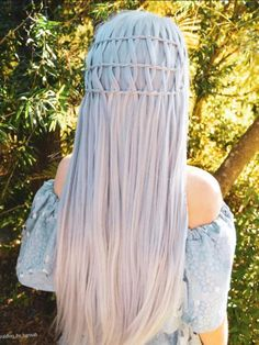 Lilac Dream Long Straight Synthetic Lace Front Wig - Synthetic Wigs - BabalaHair - June 16 2019 at Box Braids Hairstyles, Straight Hairstyles, Crazy Hairstyles, School Hairstyles, Long Haircuts, Hairstyles Videos, Black Hairstyles, Summer Hairstyles, Curly Hair Styles