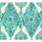 WallpapHer Boho Chic Wallpaper, Turquoise/White/Ivory