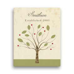 """Family Tree Personalized 11"""" x 14"""" Canvas - Wall Art & Prints - Home 