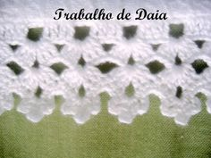 crochet edging with corner Crochet Boarders, Crochet Edging Patterns, Crochet Lace Edging, Crochet Motifs, Knit Or Crochet, Filet Crochet, Crochet Designs, Crochet Doilies, Crochet Flowers