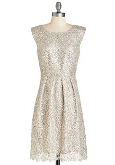 Fun One Like You Dress in Silver. Tonight, you're pairing the delicate lace and dazzling sequins of this silver dress with your best dance moves!