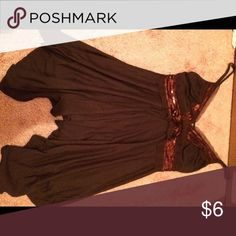 Brown shirt with sequins size small Cute tank Express Tops Tank Tops