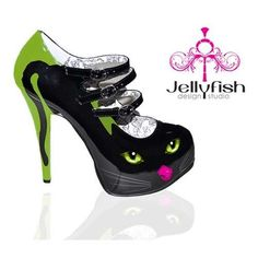 high heel cat shoes for crazy cat ladies