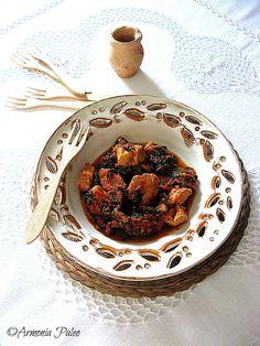 Chirino me Spanaki - Spezzatino di Maiale con Spinaci alla Cipriota