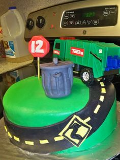 garbage truck birthday cake - Google Search