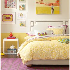 OMG I love love love bright colors like this!! Yellow love <3  Berry Gobi Embroidered Sheets <3