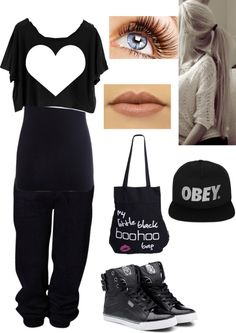 """super bass hip hop dance"" by gutierrezbrittany ❤ liked on Polyvore"