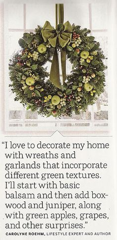 Gorgeous wreath.