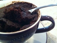 Vegan/sugar free Mug cake. So much more healthy then some other microwave desserts.