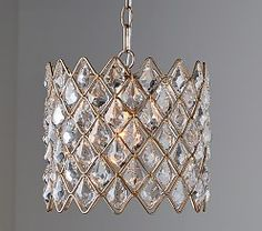 Clear acrylic round flushmount chandelier clear acrylic crystal drum chandelier aloadofball Images