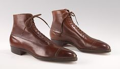 Men's shoes, Balmorals, 1915-1925, American, leather.