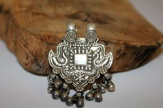 Traditional silver tribal Rajasthani peacock pendant/amulet by EastOfEdan on Etsy