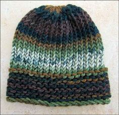 Knitting With Looms: Loom Knit Mens Hats