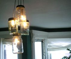 DIY Mason Jar  Hanging light