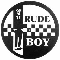RUDE BOY - Two Tone Rude Boy Slipmat (black and white design, single)