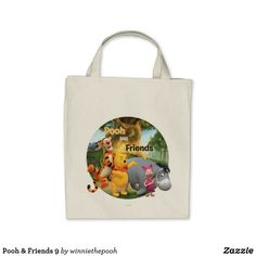 Shop Pooh & Friends 9 Tote Bag created by winniethepooh. Personalize it with photos & text or purchase as is! Create Your Own Poster, Disney Merchandise, Disney Style, Design Your Own, Winnie The Pooh, Your Favorite, Birthday Cards, Reusable Tote Bags, Stitch