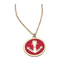 Red Enamel Nautical Necklace (26 CAD) ❤ liked on Polyvore featuring jewelry, necklaces, accessories, nautical, fashion jewelrynecklaces, enamel jewelry, polish jewelry, red jewelry, red anchor necklace and nautical pendant