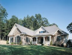Home Plan HOMEPW07504 - 2815 Square Foot, 3 Bedroom 3 Bathroom + French Country Home with 2 Garage Bays | Homeplans.com
