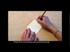 The Zentangle Community: Great video introducing zentangles!