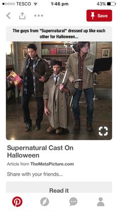 Misha Collins as Castiel as Dean W. Jared Padalecki as Sam W. as Castiel Jensen Ackles as Dean W. as Sam W.
