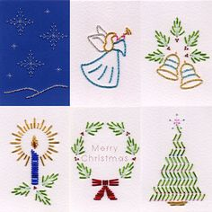 Value Pack No. 33: Xmas Beads at Stitching Cards - ePatterns for paper embroidery