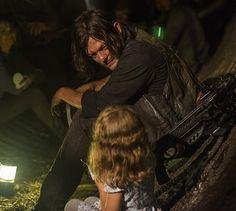 """(@the_walking_snurfy) on Instagram: """"Awwww Uncle Daryl will keep you safe ❤ @bigbaldhead - - - - - - - #normanreedus #bigbaldhead"""